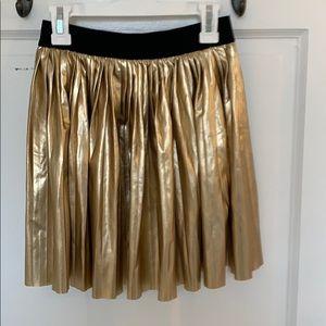 Girls metallic skirt